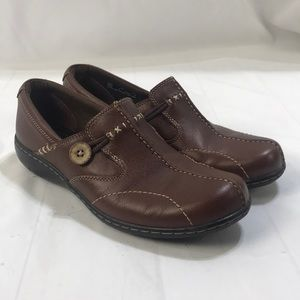 Clarks Bendables Brown Flats 8M